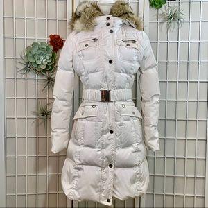 Laundry Shelli Segal White Puffer Coat